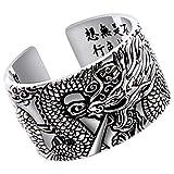Beydodo Silber 925 Ring für Herren Einstellbar Chinesischer Drache Freundschaftsringe Ringe Männer Silber Große 65 (20.7)-71 (22.6)