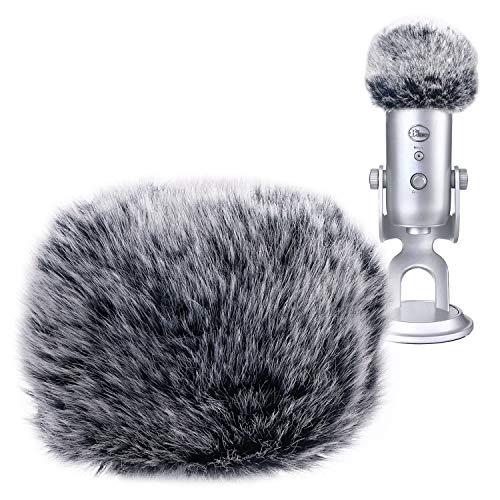 Blue Yeti Bonnette Anti-vent en Fourrure - Microphone Filtre Anti-pop Professionel pour réduire bruit pour Microphone Blue Yeti/Yeti Pro par YOUSHARES