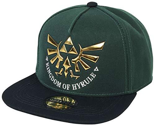 The Legend of Zelda Unisex Kingdom of Hyrule Snapback Baseball Cap, Grün (Green Green), One Size