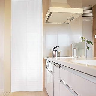 パネルカーテン 間仕切り ロングスクリーン eco 簡易 パーテーション 目隠し 冷暖房効率 UP 92×245cm プレーン ホワイト