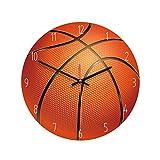 VOSAREA Reloj de pared acrílico sin ticking baloncesto, creativo, redondo, decoración para gimnasio, casa, habitación