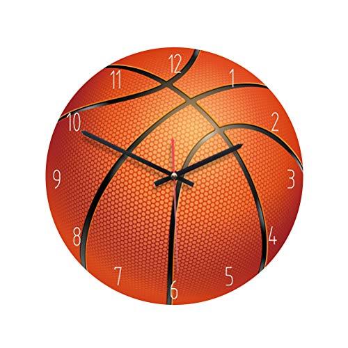 VOSAREA Reloj de pared acrílico sin ticking baloncesto, creativo, redondo, decoración para...