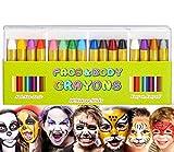 rmeet matite trucco per bambini,colori del corpo del viso matite 16 pack viso body pittura face paint per halloween trucco festa pasqua gioca carnevale natale