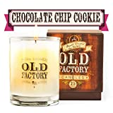 Old Factory Scented Candles - Chocolate Chip Cookie - Decorative Aromatherapy - Handmade in The USA with Only The Best Fragrance Oils - 11-Ounce Soy Candles