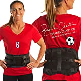 Lower Back Brace by FlexGuard Support - Lumbar Support Waist Backbrace for Back Pain Relief - Compression Belt for Men and Women - Back Braces for Sciatica, Scoliosis and Herniated Disc (Medium/Large)