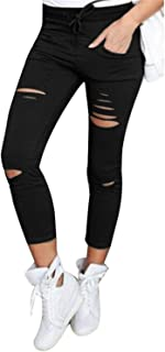 2019 High Waist Skinny Material Jeans for Hot Women Hole Vintage Girls Slim Ripped Denim Pencil Pants