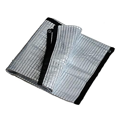 SHRMBS147 Feuille d'aluminium Filet D'Ombrage Filet Protection Solaire Toile D'Ombrage Serre pour VéGéTale Serre Jardin Pergola Maille de pelouse de Patio de Plantes Jardin Plantes Cour Toit (1×1M)