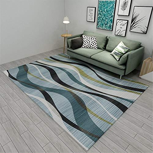 Kunsen Dormitorio Infantil alfombras de habitacion Juvenil Alfombra Corta Rectangular Azul Antideslizante Suave Suave para Sala de Estar Alfombra bebé 80X120CM 2ft 7.5' X3ft 11.2'