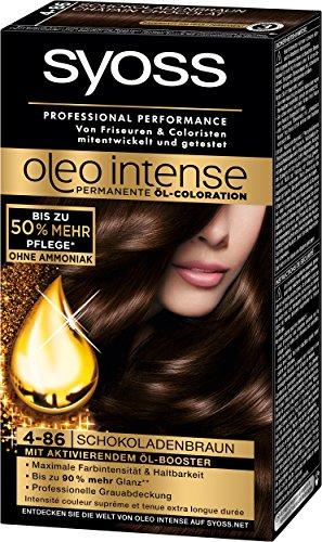 Syoss Oleo Intense Coloration 4-86 Schokoladenbraun, 3er Pack (3 x 115 ml)