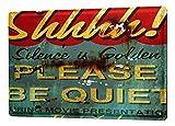 LEotiE SINCE 2004 Blechschild M. A. Allen Retro US Deko Bitte Um Ruhe Kino Plakat Hollywood Tafel...