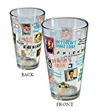 Friends Famous Classic Quotes 16oz pint glass Friends The TV Show (1 Glass Included)
