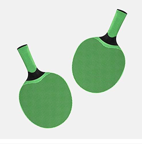 Juego de mesa al aire libre raqueta de tenis (2 paquetes), todo tipo de clima impermeable paleta de ping pong, raqueta de goma, una gran adición a la mesa de tenis de mesa ideal for ocio o juegos comp