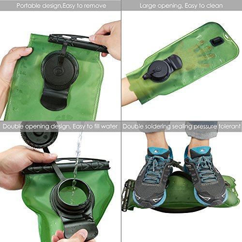 SKL 3 Liter Trinkblase Große Öffnung Wasserblase FDA Geprüfter BPA-frei Trinksystem ideal für Outdoor-Radfahren, Wandern, Laufen, Camping, Walking - 4