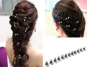 Teanfa 12 pcs of Elegant Mini Hairpin Rhinestone Flower Hairpin Jaw Clips for Wedding Party Prom