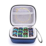 ZBY Guitar Pick Holder Case Compatible for D'Addario, ChromaCast, Fender, JIM DUNLOP, Bolopick, UNLP MUSICAL INSTRUMENT, All Size Picks Storage Pouch Box - Case Only (Blue)