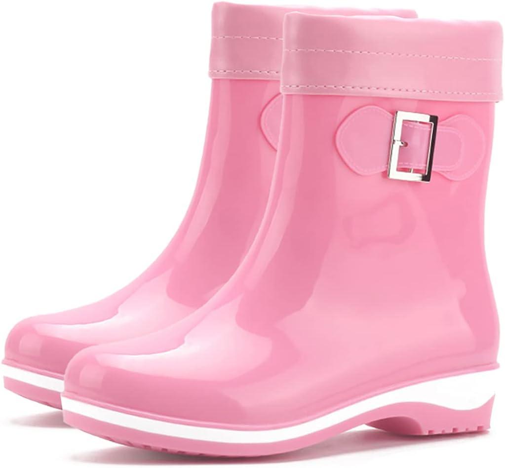 Lnrueg Novelty Funky Creative Classic Soft Simple Decorative Skin-Friendly Rain Boots Mid-Calf Printed Waterproof Casual Boots