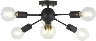 Sputnik Chandelier Lighting 6 Lights Black Modern Ceiling Light Industrial Mid Century Pendant Lighting by TUDOLIGHT