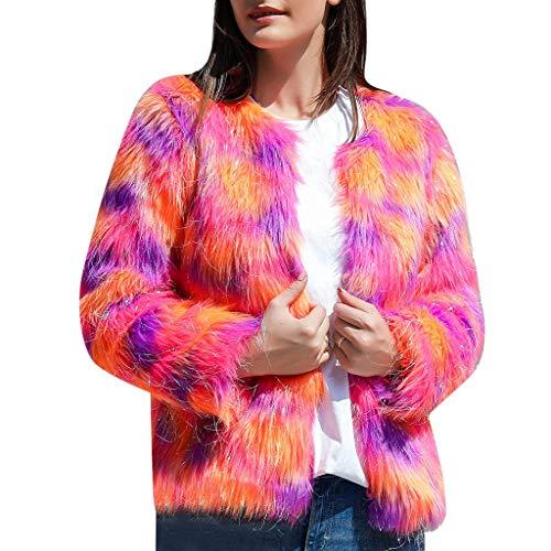 Multicolor Faux Fur Vest