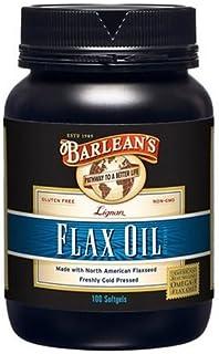 Barlean's Lignan Flax Oil Softgels, 100-Count Bottles (Pack of 2)
