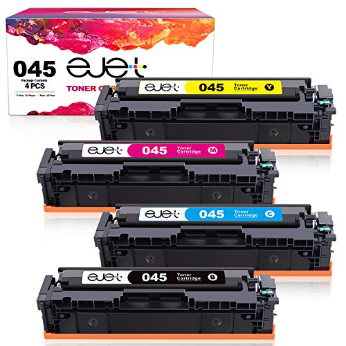 ejet Compatible Toner Cartridge Replacement for Canon 045 045H CRG-045H CRG-045 Toner Cartridge Used in LBP612CDW MF632Cdw MF634Cdw MF633Cdw MF635Cx LBP611Cn MF613Cdw Printer (4 Pack)