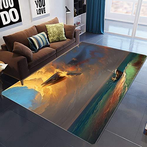 HJFGIRL 3D-Teppiche Wohnzimmer Teppich Gym Spielmatte Übungsunterlagen Nordic Simple Couchtisch Zimmer Schlafzimmer Bodenteppichmatte Für Stühle, Hocker Und Sofas,40x60cm(16x24inch)