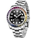 BERSIGAR Relojes para Hombre Reloj de Pulsera automático Reloj mecánico de Acero Inoxidable Impermeable 100M Relojes