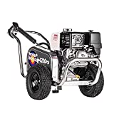 Simpson Cleaning ALWB60828 Water Blaster Gas Pressure Washer Powered by Honda GX390, 4200 PSI at 4.0 GPM, CAT Triplex Pump, (49 State)
