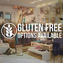 CELYCASY Gluten Free Options Available Sign Store Business - Vinyl Decal Sticker