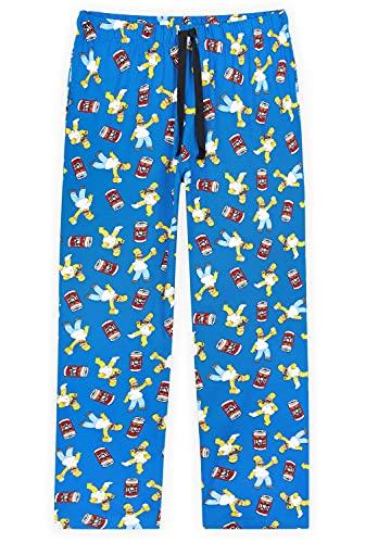 The Simpsons Pantalón Pijama Hombre, Pijama Divertido De Los Simpsons, Pantalón Largo De Algodón,...