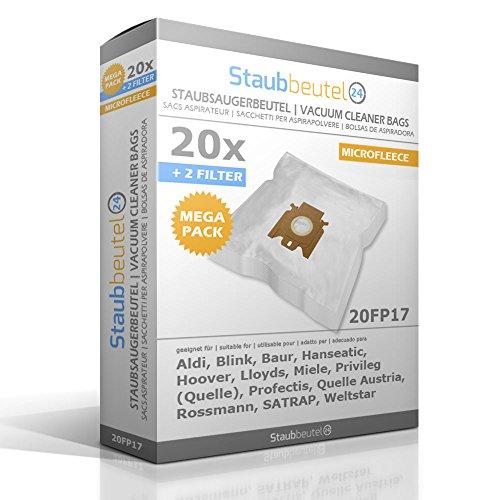 20 Staubsaugerbeutel geeignet für ADIX: 170, MI 101, MI101, MI 105, MI105, MI 150, MI150, MI 160, MI160;MI 170, MI170, Blink 01.12.12, MI 01, MI01