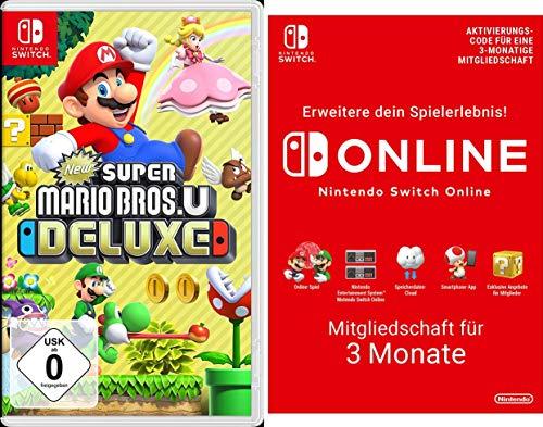 New Super Mario Bros. U Deluxe [Nintendo Switch] + Switch Online 3 Monate [Download Code]