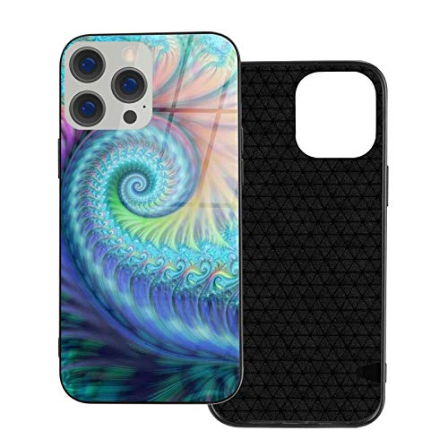 DOWNN Funda de cristal para iPhone 12, 3D, color turquesa, con tinte anudado, flexible, suave, protección de poliuretano termoplástico para iPhone 12/12 Pro/12 Mini/12 Pro Max