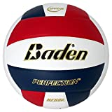 Baden Perfection Leather Volleyball, Red/White/Navy