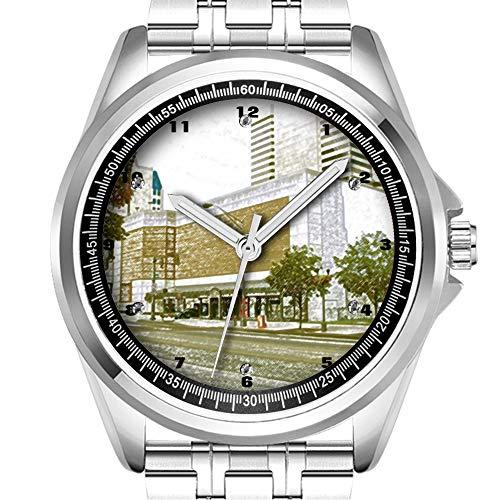 Reloj de Pulsera Personalizado para Hombre, a la Moda, Resistente al Agua,...