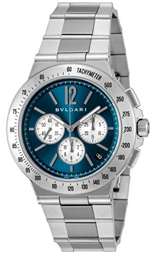 [ブルガリ]腕時計ディアゴノタキメトリックブルー文字盤DG41C3SSDCHTAメンズ並行輸入品シルバー