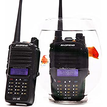 BAOFENG UV-9R Plus Walkie Talkie VHF UHF Dual Band Handheld Two Way Radio Water
