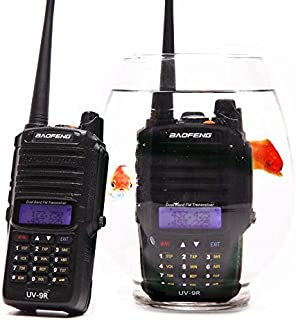 Baofeng UV-9R 136-174/400-520MHZ VHF/UHF Dual Band Dustproof Waterproof IP67 Transceiver Walkie Talkie Two Way Radio