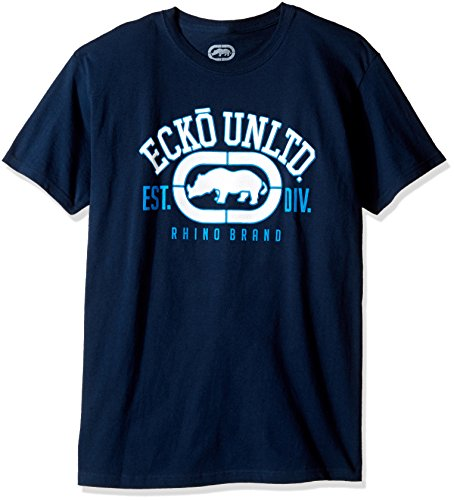Ecko Unltd. Men's The Rhino Remains Short Sleeve Printed T-Shirt, Navy, Large