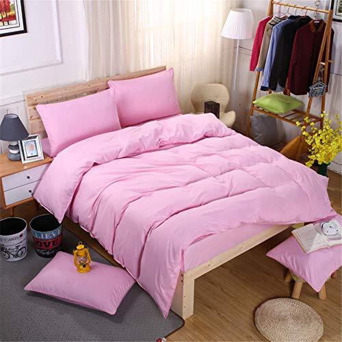 Chanyuan Ropa de cama de microfibra cepillada, 1 funda nórdica de 135 x 200 cm y 1 funda de almohada de 80 x 80 cm con cremallera, color rosa claro