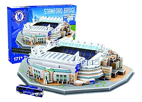 Giochi Preziosi 70037251 - Puzzle 3D Stadio Stamford Bridge Chelsea, 171 pz.