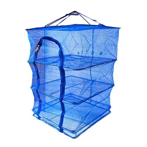 LIOOBO Cesta de Red de Secado Plegable Colgante de Malla Cuadrada Secador Pantalla de Protección de Comida de Alimentos Deshidratador de Pescado Malla para El Hogar