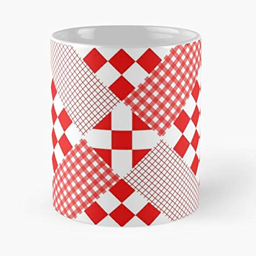 Holiday Tablecloth Classic Mug -11 Oz Coffee - Funny Sophisticated Design Great Gifts White-situen.