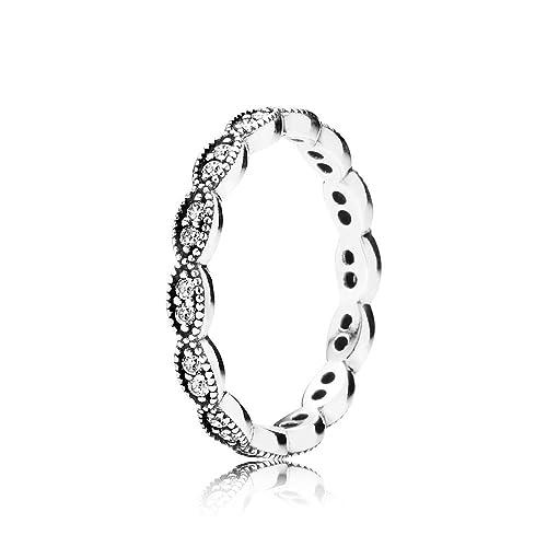 5f485f7c1 Pandora Pearl Cubic Zirconia Silver Ring - Size K 190923CZ-50