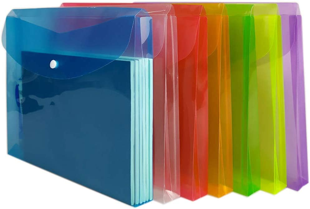 Los Angeles Mall TIENO Poly Envelope Legal Expandable File Folders with Organizer Manufacturer OFFicial shop