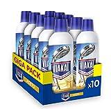 Viakal - Detergente antical líquido vinagre, tamaño grande, 10 unidades de 515 ml