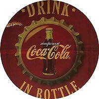 コカコーラ ぶら下がっている木製のプラークハウスウェルカムサイン個々の円形レトロアートペインティングとひもプラークレコードペインティング