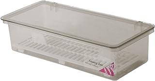 OUNONA キッチン 箸 水切りかご 収納ボックス 透明 防塵 食器 収納オーガナイザー キッチン カトラリートレイ 調理器具 収納容器 (Black)