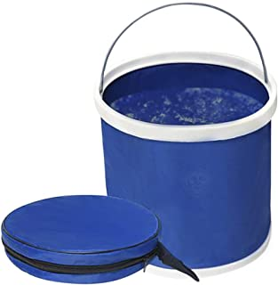Collapsible Bucket with Lid --- Aquarium Water Change Pail - Outdoor water storage container for Camping, Hiking, Gardening - Space-Saving Packable pail for Car, RV, Fishing, Fruit Picking & More