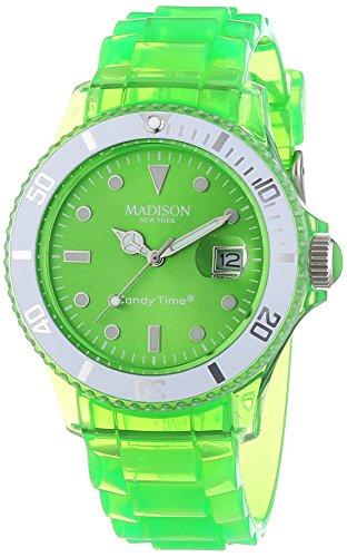 MADISON NEW YORK Unisex-Armbanduhr Candy Time Jelly Mix Analog Quarz Plastik U4631-10/1