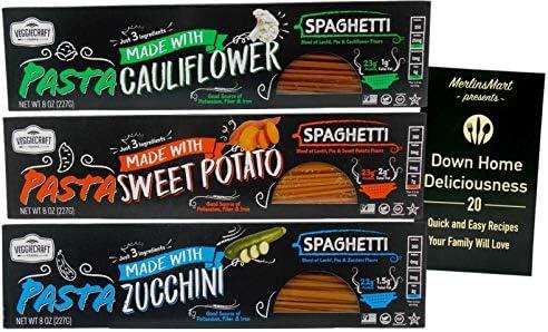 Veggiecraft Farms Veggie Spaghetti Pasta 3 Flavor Variety 1 each Cauliflower Sweet Potato Zucchini product image